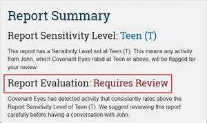 How do I read the Covenant Eyes Accountability Report?