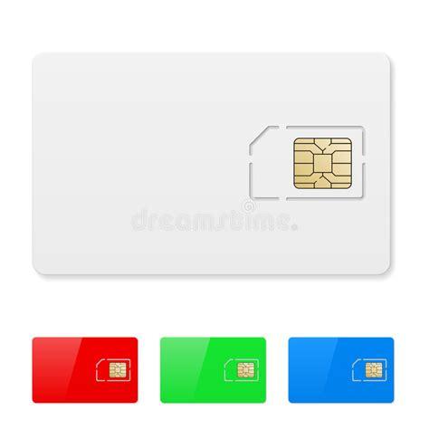 blank sim card stock vector illustration  technological