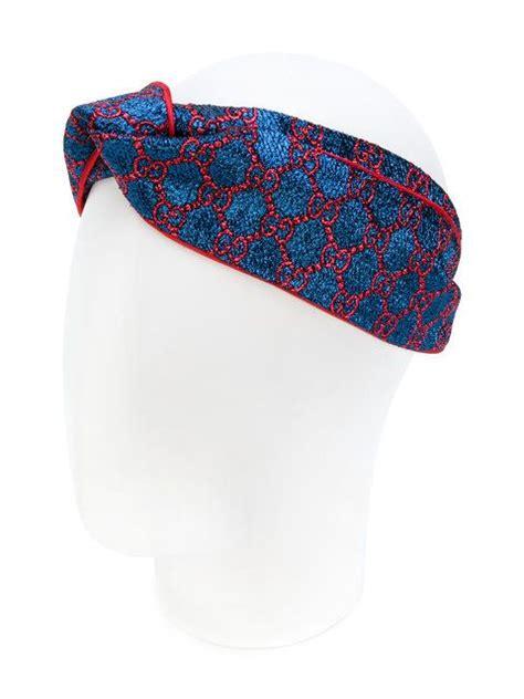 gucci gg supreme print headband  images designer
