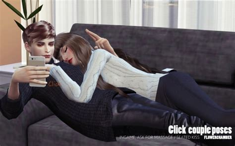 flower chamber click couple poses sims  downloads