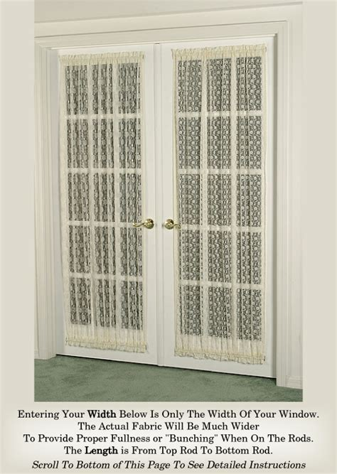 Sidelight Window Curtain Ideas by French Door Curtains In Fine Lace Assortment Door Curtains