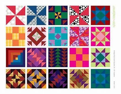 Quilt Clip Amish Clipart Designs Squares Printable