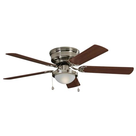 harbor breeze ceiling fan installation shop harbor breeze armitage 52 in brushed nickel indoor