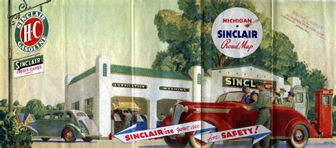 Cover of Sinclair Oil Map, 1937