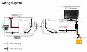 Wireless Ccd Ir Camera System 7 U0026quot  Monitor 24v 12v 4pin Reversing Caravan Truck Tu 769572711805