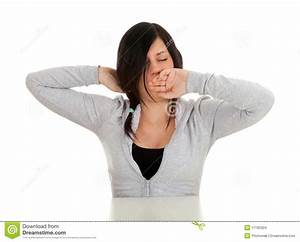 Yawning Stretching Woman Stock Images - Image: 17182324