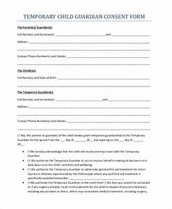temporary guardianship form samples 10 free documents With temporary will template