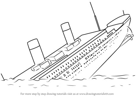 Boat Drawing Instructions by Learn How To Draw Titanic Sinking Boats And Ships Step