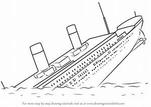 Learn How to Draw Titanic Sinking (Boats and Ships) Step ...