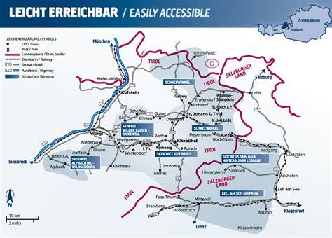 Skigebiete Salzburger Land Karte
