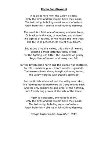 examples  war poetry  queenpriscilla teaching