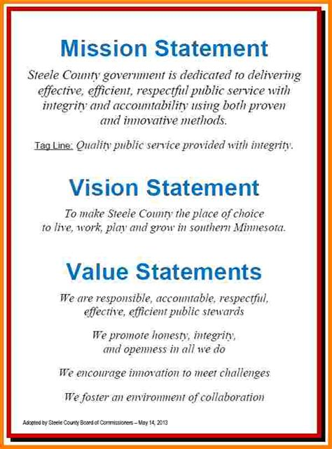 personal mission  vision statement examples case