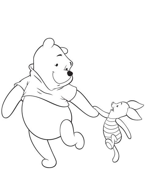 winnie  pooh  piglet friend coloring page hm