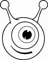 Coloring Eye Alien Preschool Clipartmag Printable Cool sketch template