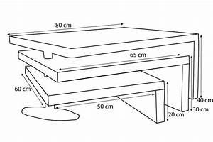 Table Basse Hauteur 60 Cm : table basse design elvezia con u pour un int rieur modulable ~ Nature-et-papiers.com Idées de Décoration