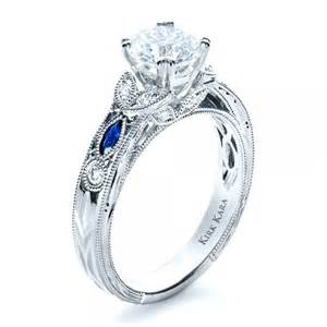saphire engagement rings blue sapphire engagement ring kirk kara 1415 bellevue seattle joseph jewelry