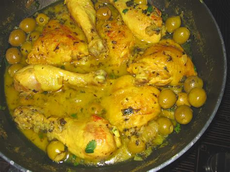 cuisine marocaine poulet aux olives tajine de poulet aux olives et citrons confits comment