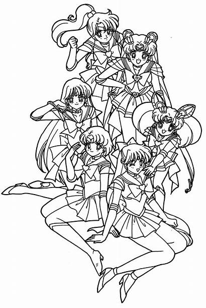 Coloring Sailor Moon Pages Printable Friend Adult