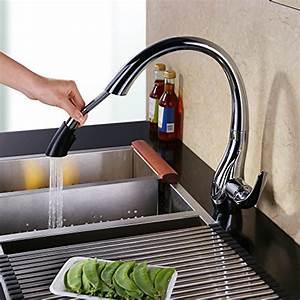 Spülbecken Für Küche : homelody chrom mit ausziehbar brause wasserhahn ~ Michelbontemps.com Haus und Dekorationen
