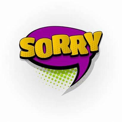 Sorry Clip Comic Pop Word Cartoon Bubble