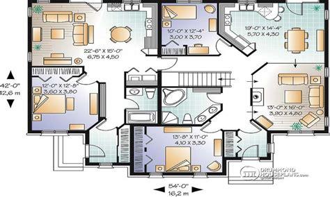 family home floor plans multi family house plans triplex house plans family house