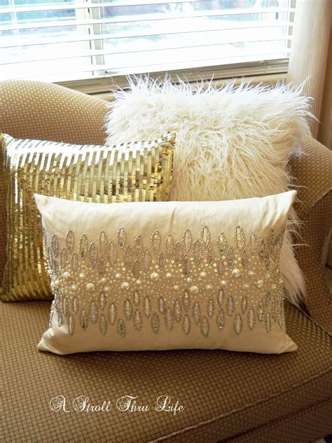 white and gold decorative pillows a stroll thru warm and cozy fall master 1736