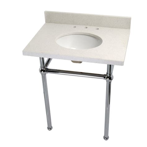 console bathroom sinks with chrome legs kingston brass washstand 30 in console table in white