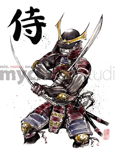 samouraï siège armored samurai 2 swords by mycks on deviantart