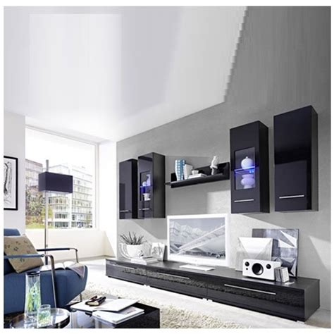 cool living room furniture set in high gloss white