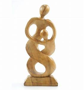 Maison Du Monde Attrape Reve : statue abstraite famille parent enfant en bois style ~ Nature-et-papiers.com Idées de Décoration