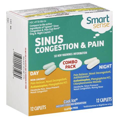 Sinus Congestion Pain Daytime Caplets Cool Ice 24 Caplets
