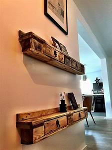 Recyclage Palette : recyclage palettes en etag res bidouilles pour la d co ~ Melissatoandfro.com Idées de Décoration