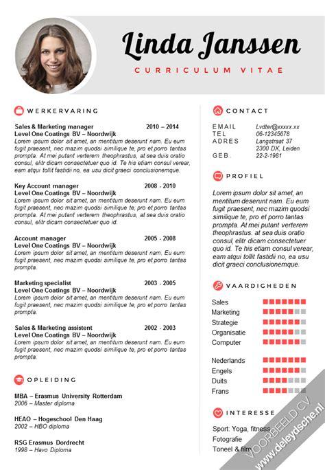 Sle Of A Curriculum Vitae by Cv Sales Manager Voorbeeld Hetmakershuis