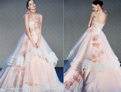 2012 Wedding Dress Trends Pink Wedding Dress Saison