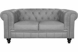 canape 2 places chesterfield gris berenice design sur With chesterfield canapé 2 places