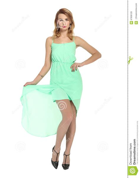 Beautiful Model And Dressed Beautiful Model In A Dress Stock Photo Image 67606120