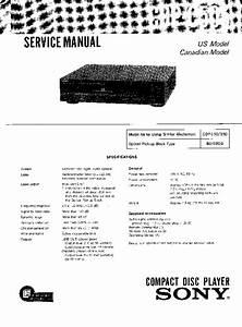 Sony Cdp-c505 Service Manual
