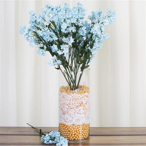 bushes baby breath silk filler flowers  wedding
