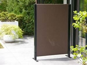 paravent visto l112x t32x h160 cm aus polyrattan in mokka With whirlpool garten mit balkon paravent wetterfest