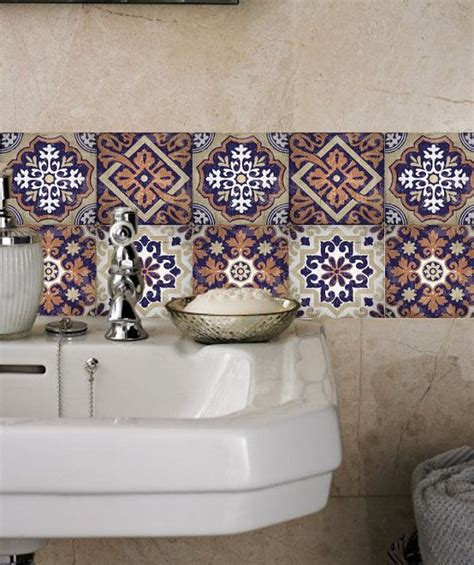 tile stickers wall stickers tile decals for kitchen bathroom pack of 20 mexico morocco