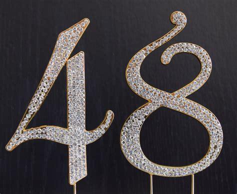 rhinestone gold number 39 cake rhinestone gold number 48 cake topper 48th birthday