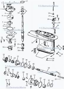 Johnson Small Gearcase Parts 40  50 Hp 1989