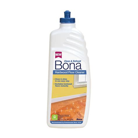 what product to use to clean hardwood floors bona 32 oz clean and refresh hardwood floor cleaner wm700051208 the home depot