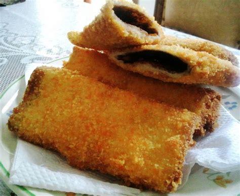 inilah  membuat roti tawar goreng coklat  mudah