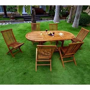 Salon Jardin Teck : salon en teck 6 places ~ Melissatoandfro.com Idées de Décoration