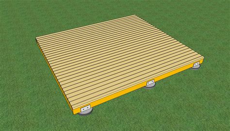 freestanding wood deck how to build a deck on the ground howtospecialist how to build
