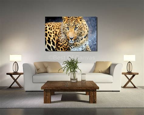 animal decor leopard canvas print animals home decor wall ebay