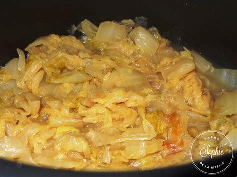 cuisiner choux chinois chou chinois braisé la tendresse en cuisine