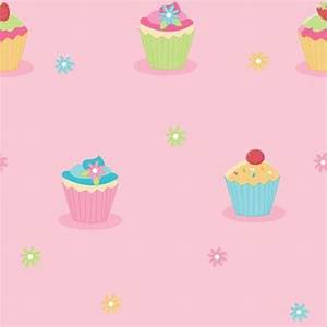 Fine Decor Cute Cupcake Pink Childrens Kids Girls Designer ...