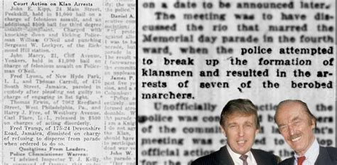 trump donald father rally dad arrested klan kkk were fred son rallies klux ku confirm reports those boing hate boingboing
